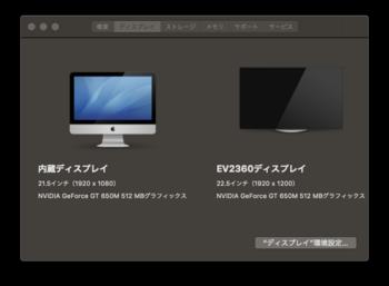 iMacデュアルディスプレイ